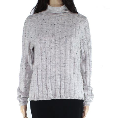 Madewell Women's Sweater Gray Size Large L Ribbed Knit Turtleneck