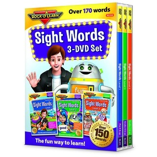 Rock N Learn Sight Words 3 Dvd Set