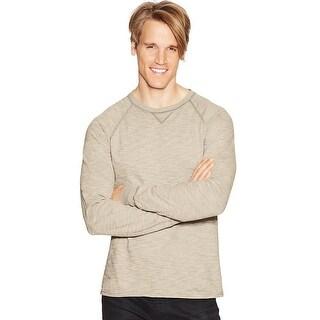 Hanes Men's Relaxed V-Notch Long-Sleeve Tee