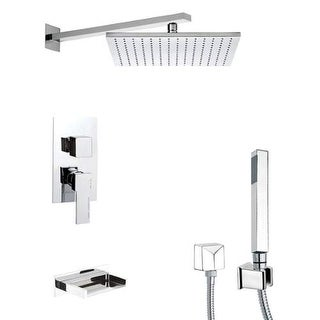 Remer by Nameeks TSH4513 Tyga Shower Tub and Shower Trim Package with Single Fun