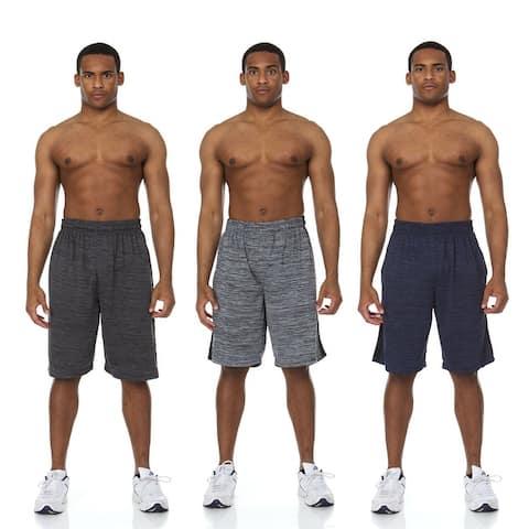 3 Pack Mens Active Basketball Shorts with Pockets
