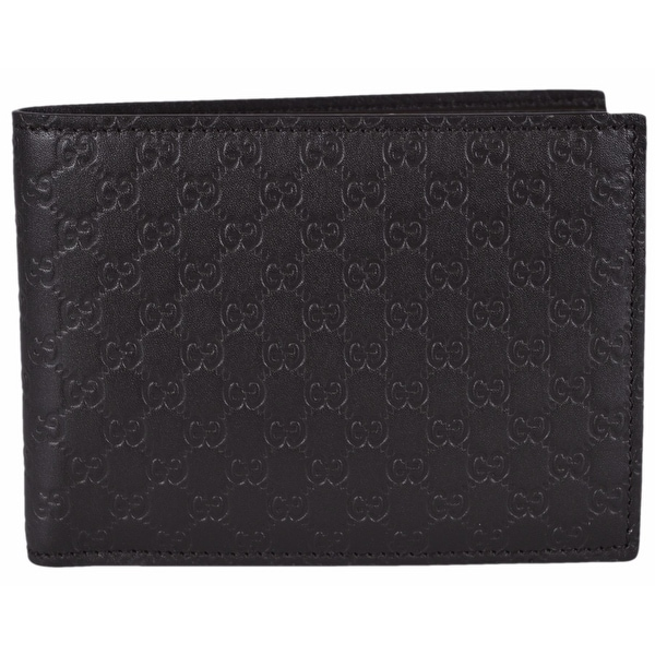"Gucci Men's 278596 Brown Micro GG Guccissima Large Bifold Wallet - 5""x3.75"""