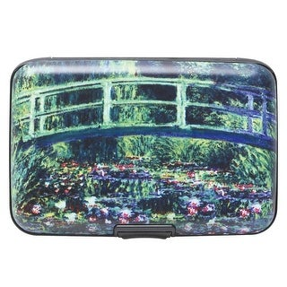 Women's Fine Art Identity Protection RFID Wallet - Water Lilies Bridge - Medium
