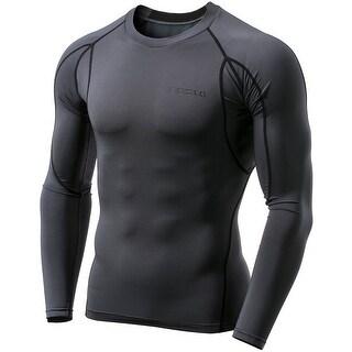 Tesla MUD11 Cool Dry Long Sleeve Compression Shirt - Charcoal/Black