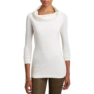 Three Dots Womens Pullover Top Cowl Neck Long Sleeves