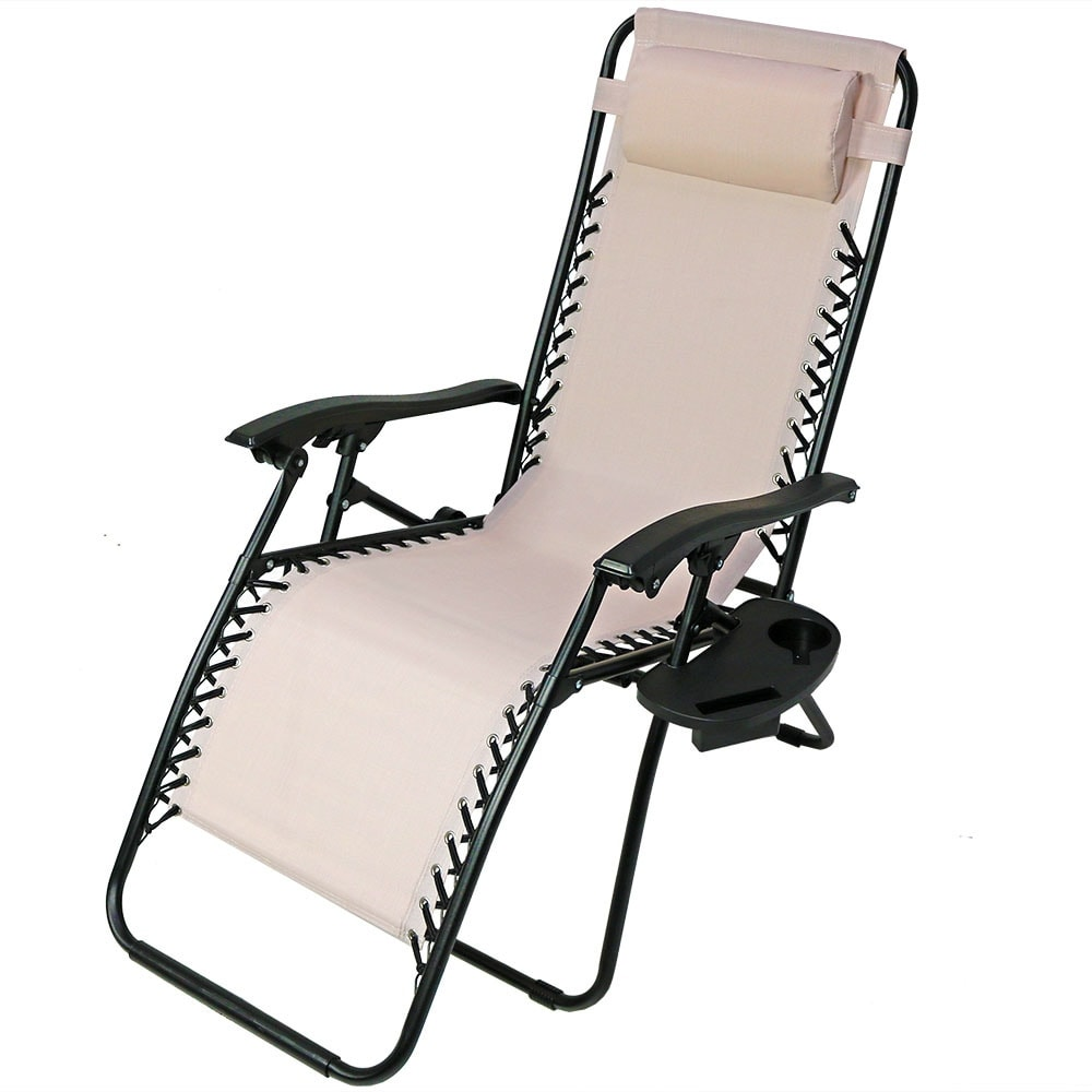 Sunnydaze Zero Gravity Lounge Chair with Pillow and Cup Holder, Multiple Colors Available - Thumbnail 81