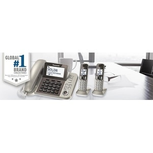 Panasonic KX-TGF352N DECT 6.0 Plus Corded / Cordless Landline Phone System (Refurbished)