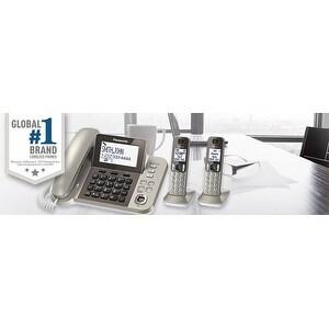Panasonic KX-TGF352N DECT 6.0 Plus Corded / Cordless Landline Phone System (Refurbished)