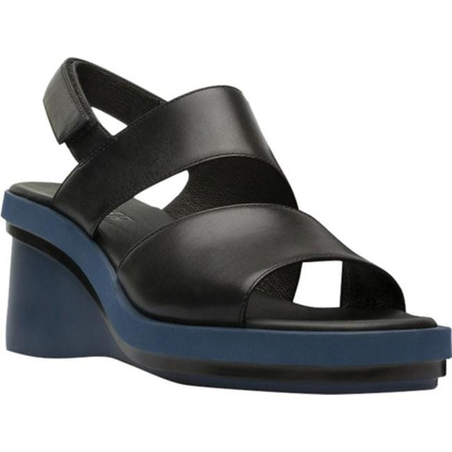Camper Kyra K200964 Leather Casual Open-Toe Wedge Slingbacks Womens Sandals