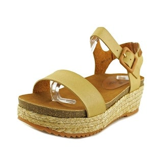 MTNG 52319 Open Toe Leather Wedge Sandal