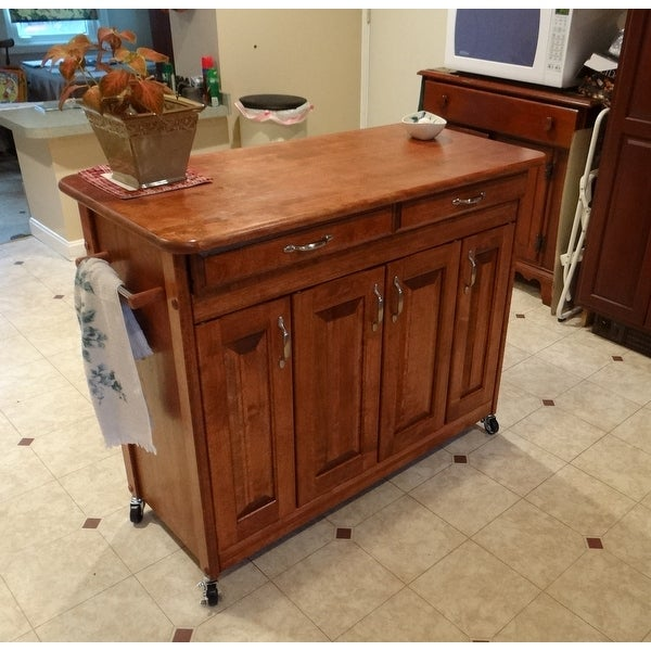 Shop Catskill Craftsman Butcher Block Kitchen Island   N/A   Free Shipping  Today   Overstock.com   7182876