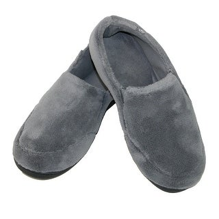 Isotoner Men's Microterry Memory Foam Indoor/Outdoor Slip-On Slippers (Option: Large)