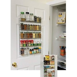 Link to Evelots Spice Rack-5 Shelves-Wall/Door Mount-No Rust-Easy Clean-Up to 40 Bottles - Set of 1 Similar Items in Kitchen Storage
