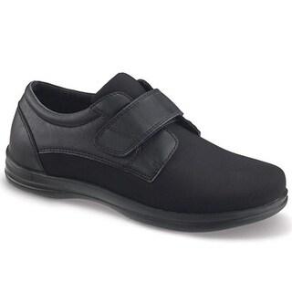 Apex Men's A3000m Classic Strap Oxford Flat, Black, Size 14.0 - 14