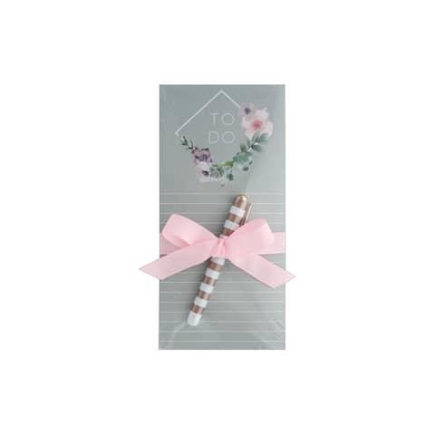 Lady Jayne Magnetic List Pad W/Pen Diamond Wreath