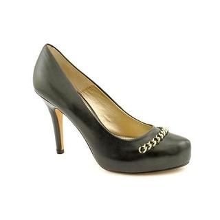 Isola Coral Platform Pump Heels - Black Leather