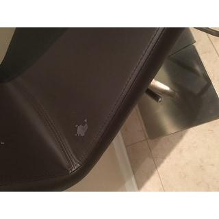 Brushed Stainless Steel Diamond Pattern High-back Adjustable Height Swivel X Base Bar Stool
