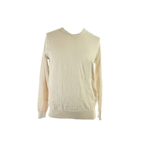 John Ashford New Oatmeal Long-Sleeve V-Neck Sweater S