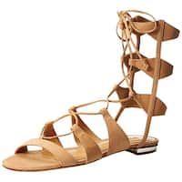 SCHUTZ Womens Erlina Fabric Open Toe Casual Gladiator Sandals
