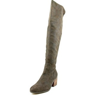 Report Fisher Women Round Toe Synthetic Brown Over the Knee Boot