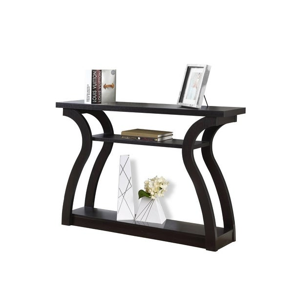 Superieur Monarch Specialties I 2445 47 Inch Wide Wood Hall Console Table   Cappuccino