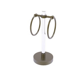 Allied Brass Clearview Collection Vanity Top Guest Towel Ring with Dotted Accents