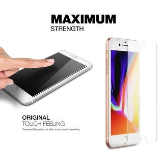 2-Pack Tempered Glass Screen Protector for iPhone 8 Plus