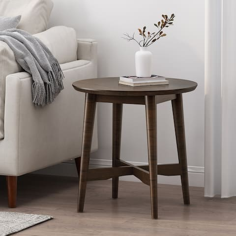 Behrens Indoor Wood End Table by Christopher Knight Home