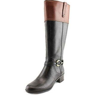 Bandolino Carly Wide Calf Women Round Toe Leather Knee High Boot