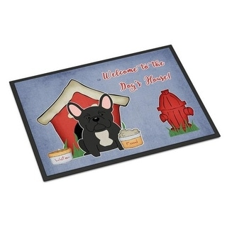 Carolines Treasures BB2768JMAT Dog House Collection French Bulldog Black Indoor or Outdoor Mat 24 x 0.25 x 36 in.