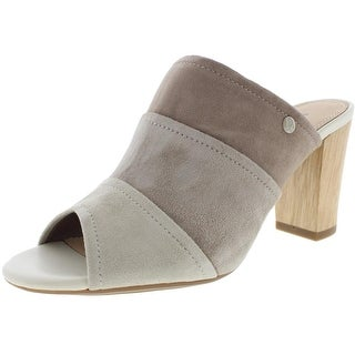 Hush Puppies Womens Suede Colorblock Mules - 7.5 medium (b,m)
