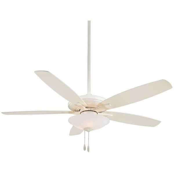 "MinkaAire Mojo 52"" 5 Blade Indoor Ceiling Fan with Blades and Low Profile Light Kit Included"