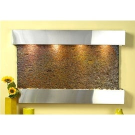 Adagio Sunrise Springs Wall Fountain Rajah Solid Slate Stainless Steel - SSS2004
