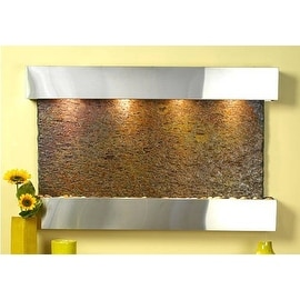 Sunrise Springs Stainless Multicolor Slate Wall Fountain