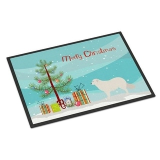 Carolines Treasures BB8467JMAT Kuvasz Christmas Indoor or Outdoor Mat 24 x 36 in.