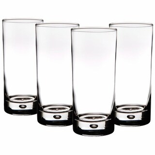 Bubble Highball Glasses - 17 Ounces - Set of 8 - Home Essentials Red Series - 7.2 in. x 14.8 in. x 16 in.