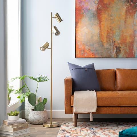 Rowland 65 in. Bronze Modern Floor Lamp