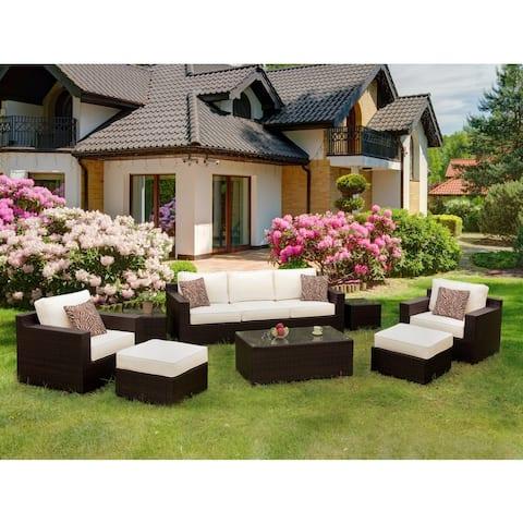 Furniture of America Lavy Contemporary 8-piece Outdoor Patio Set