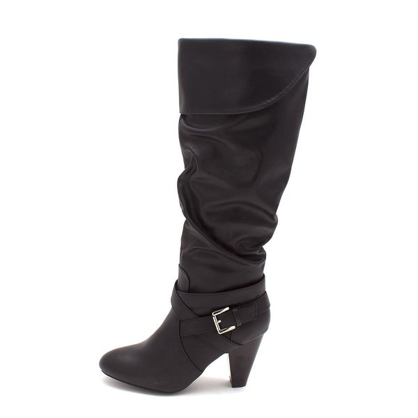 Just Fab Womens gladys Closed Toe Mid-Calf Riding Boots - 5.5