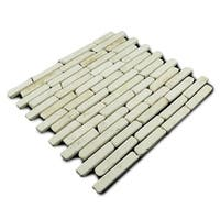 Miseno MT-L3RWH Strip Mosaic Natural Stone Tile (9.9 SF / Carton) - N/A