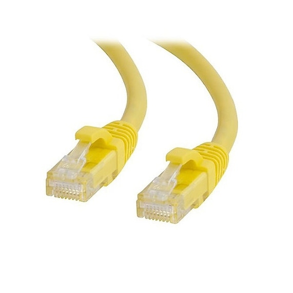 C2g 04007 2Ft Cat6 Snagless Unshielded (Utp) Network Patch Cable, Yellow
