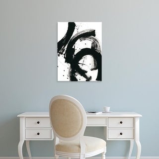 Easy Art Prints June Erica Vess's 'Onyx Gesture II' Premium Canvas Art