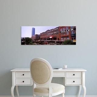Easy Art Prints Panoramic Image 'Bricktown Mercantile, Bricktown Canal, Devon Tower, Oklahoma City' Canvas Art