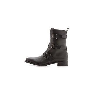 Rebecca Minkoff Womens Malla Too Leather Closed Toe Mid-Calf, Black, Size 8.5
