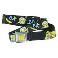 Despicable Me Seatbelt Belt - Funny Minions w/ Bananas-Holds Pants Up