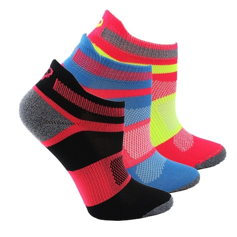 Asics Girls Youth Quick Lyte 3-Pack Athletic Socks Socks - L