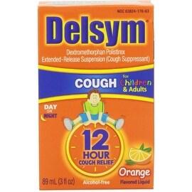 Delsym 12 Hour Cough Suppressant, Orange 3 oz