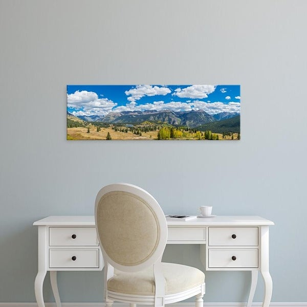 Easy Art Prints Panoramic Images's 'Molas Pass on U.S. Route 550, Silverton, San Juan Mountains, Colorado' Canvas Art