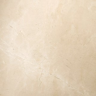 "Emser Tile M11CREM1818  Marble - 18"" x 18"" Square Floor and Wall Tile - Polished Marble Visual - Crema Marfil Classico"