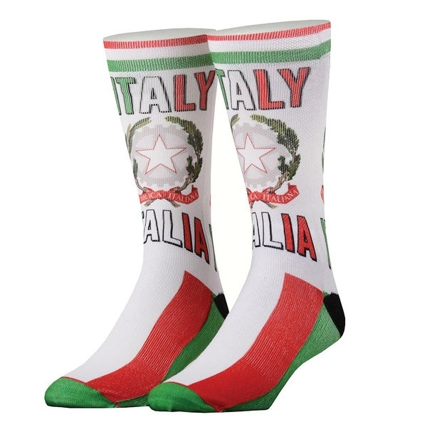 Odd Sox Italy Print Country Crew Socks - Italia - One size